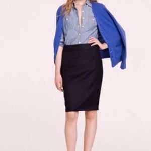 J. Crew Wool Super 120s Skirt Navy  Size 8